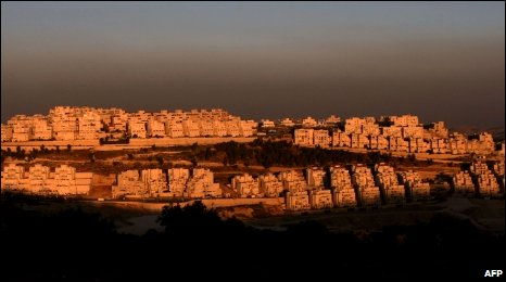 The Jewish settlement of Har Homa in east Jerusalem on June