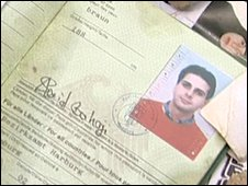 The alleged passport of Said Bahaji, who is linked to the 9/11 attacks, and which was recovered by advancing Pakistan army troops in South Waziristan