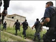File picture of Mexican anti-narcotics police