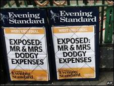 MPs' expenses headlines