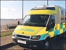 Merseyside ambulance