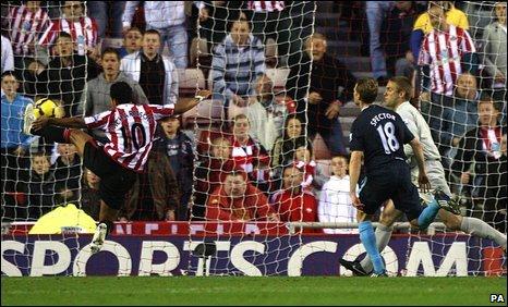 Keiran richardson scores Sunderland's equaliser