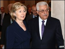 illary Clinton and Mahmoud Abbas