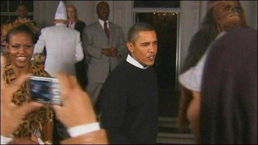 Obamas at Halloween
