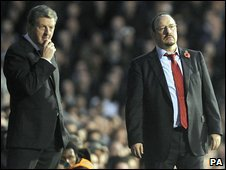 Roy Hodgson (left) and Rafa Benitez (right)