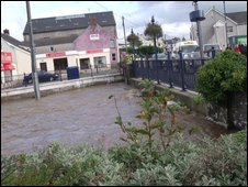 This photo of flooding in St Clears was taken by Lloyd Rees
