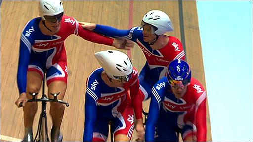 Team GB's men pursuit