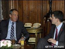 Sergey Lavrov, David Miliband