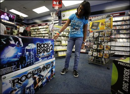Rockband and other games in the shops
