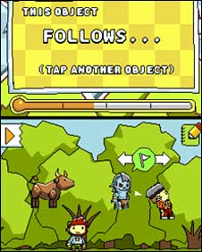 Screengrab from Scribblenauts, Warner