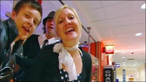 Cast members of Watford Gap: the Musical