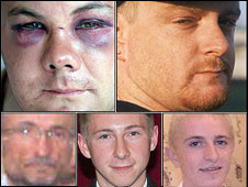 Montage of pics of victims