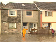Flooding in East Wemyss