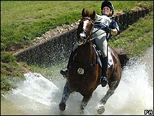 Zara Phillips competes