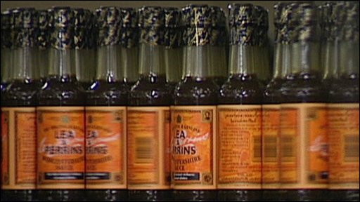 Worcestershire sauce bottles