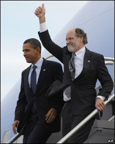 Barack Obama and Jon Corzine