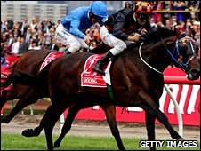 Shocking beats Crime Scene in the Melbourne Cup