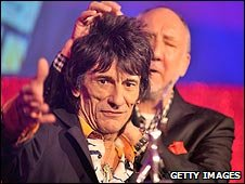Ronnie Wood and Pete Townshend