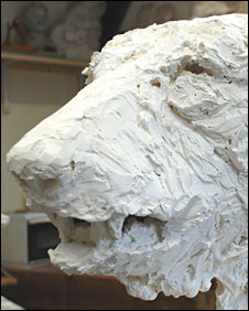 One of Mark's many polar bear sculptures