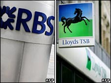 RBS and Lloyds logos