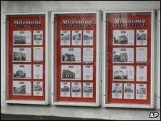 Estate agent's window in London