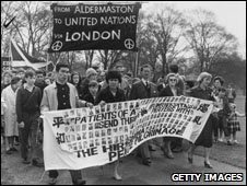 A protest march from Aldermaston
