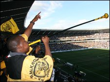 Fans at the Soweto derby