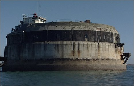 Spitbank Fort is located a mile off land.