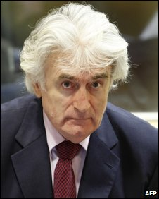 Radovan Karadzic at The Hague on 3 November 2009