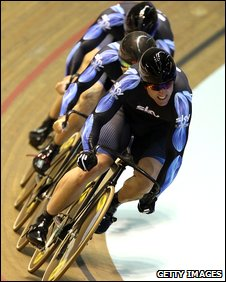 Jamie Staff in the World Cup team sprint