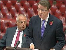 Lord Mandelson in the House of Lords