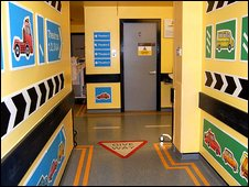 Corridor at the Children's Hospital