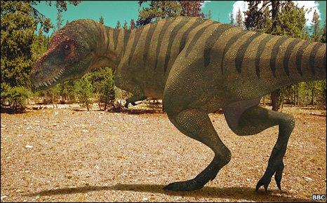 Televisual representation of Tyrannosaurus rex (BBC)