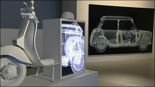 X-rays of moped and mini car
