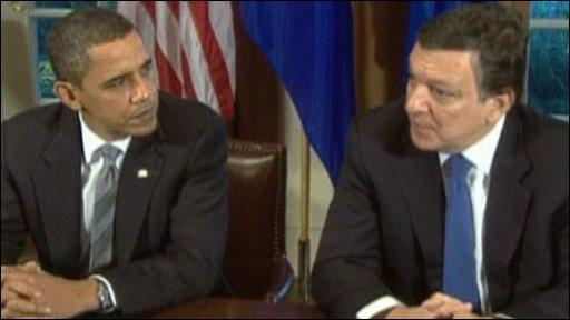 US President Barack Obama and European Commission President Jose Manuel Barroso