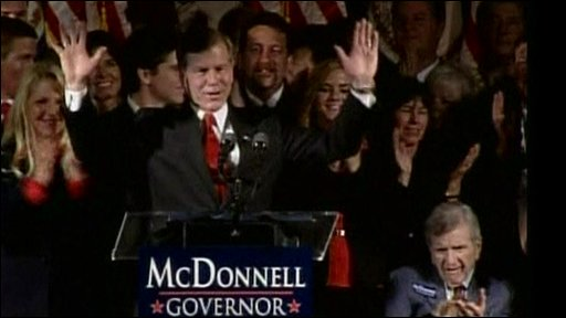 Bob McDonnell with supporters