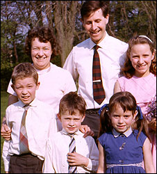 David as a boy with family