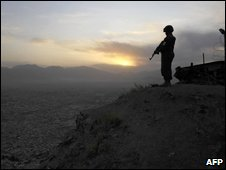 Armed Afghan policeman