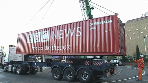 The Box arrives at Television Centre