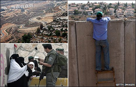 Scenes of the West Bank barrier