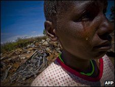 A survivor of the violence in El Doret, western Kenya, January 2008