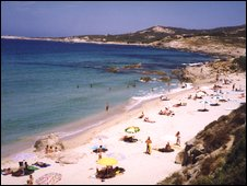 a beach in corsica 