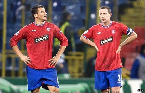 Dejected Lee McCulloch and David Weir