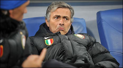 Inter Milan boss Jose Mourinho saw his team move into top spot in group F