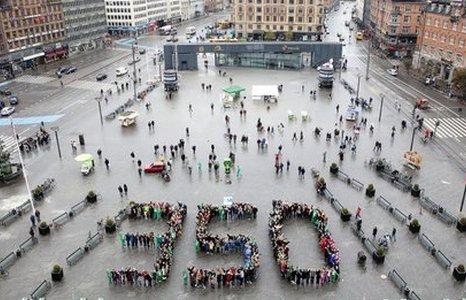 Campaigners in Copenhagen (AFP)