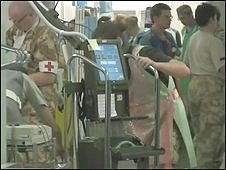 Medics in Camp Bastion's field hospital