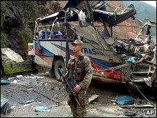 Scene of an ELN bomb attack from 2001
