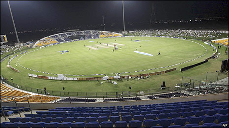 The Sheikh Zayed Stadium, Abu Dhabi, is currently hosting Pakistan v New Zealand
