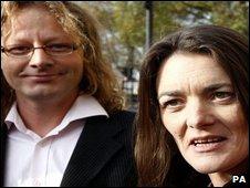 Jenny Paton with her partner Tim Joyce
