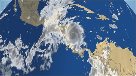 Satellite image of Hurricane Ida